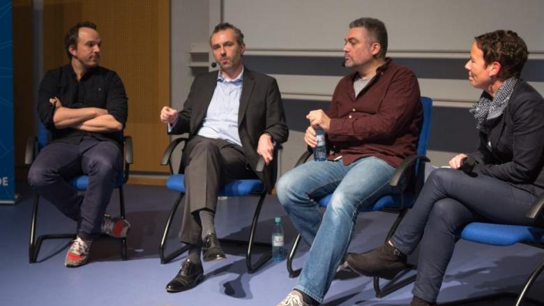 Christian Nießing, Thomas Jarzombek MdB, Kenneth Breeze und Judith Möllmann